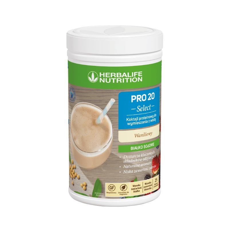Koktajl proteinowy PRO 20 – 630 g – waniliowy
