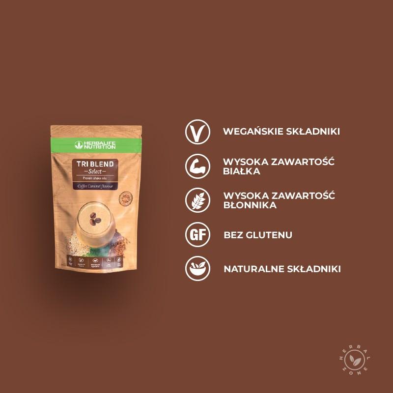 Tri Blend Select kawowo-karmelowy