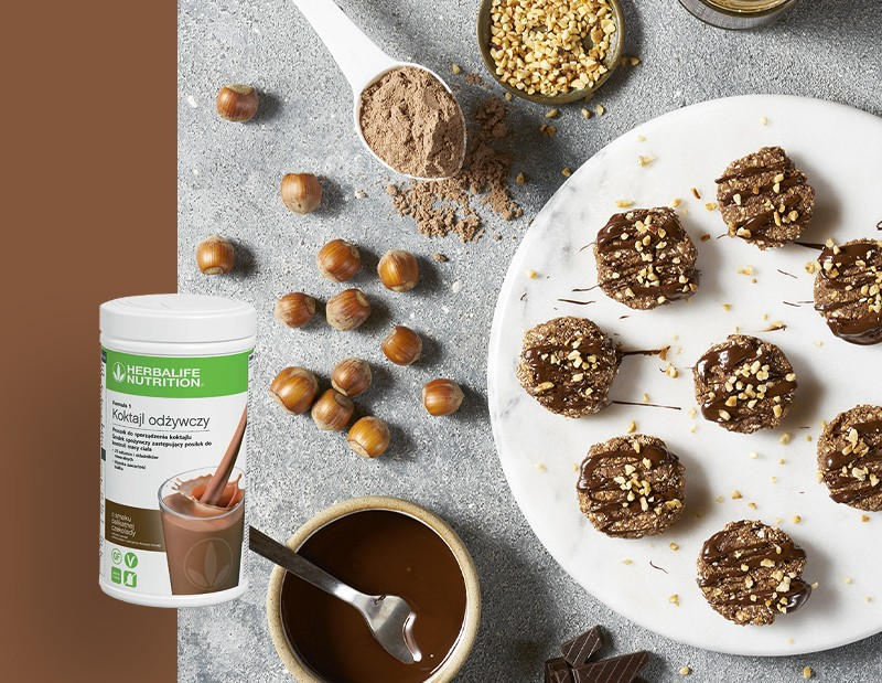 Proteinowe ciastka czekoladowo-orzechowe