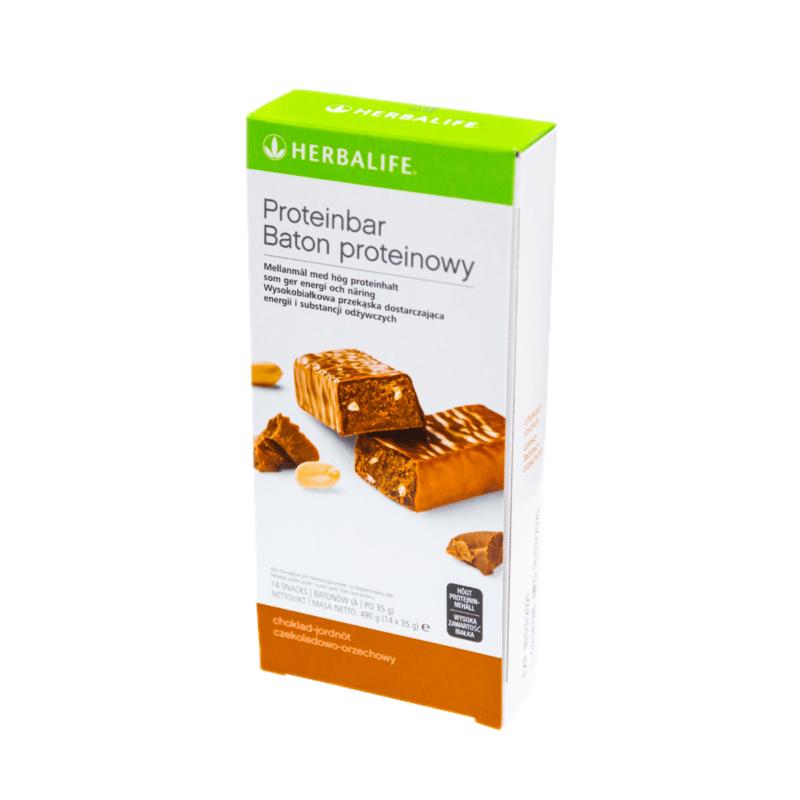 Batony Proteinowe czekoladowo-orzechowe – 14 sztuk