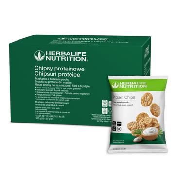Chipsy proteinowe Herbalife o smaku cebulowo-śmietanowym 10x30g